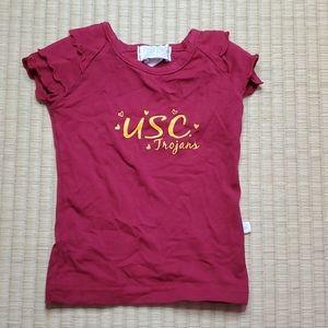 SC Trojans Ruffle Sleeve T-Shirt, 12M